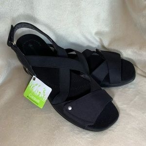 """⭐️🆕⭐️ GRASSHOPPERS Casual """"Orchid"""" Black Sandal"""